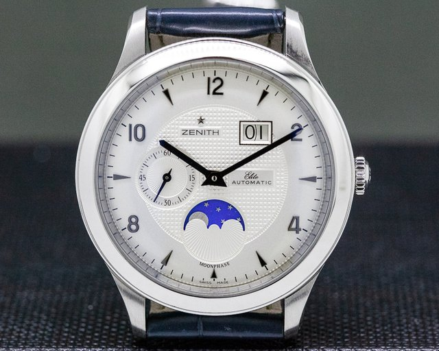 Zenith 03.1125.691/02.C496 Class Moonphase Grande Date SS