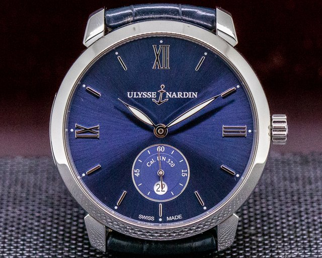 Ulysse Nardin 3203-136-2/33 Classico Small Second Automatic Blue Dial SS
