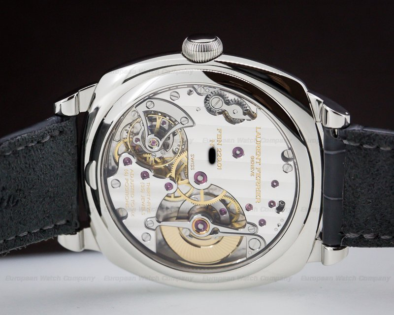 Laurent Ferrier FBN229.01 Galet Micro Rotor Square SS Silver Dial
