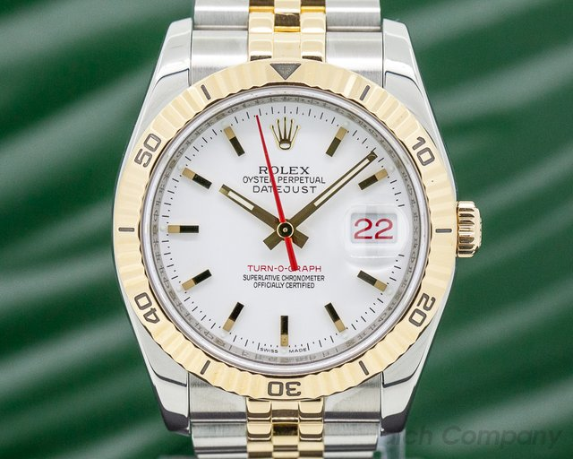 Rolex 116263 Datejust Turn-O-Graph 18k/ss