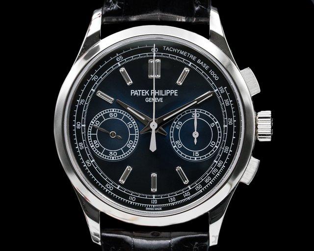 Patek Philippe 5170P-001 Chronograph Platinum Blue Diamond Dial