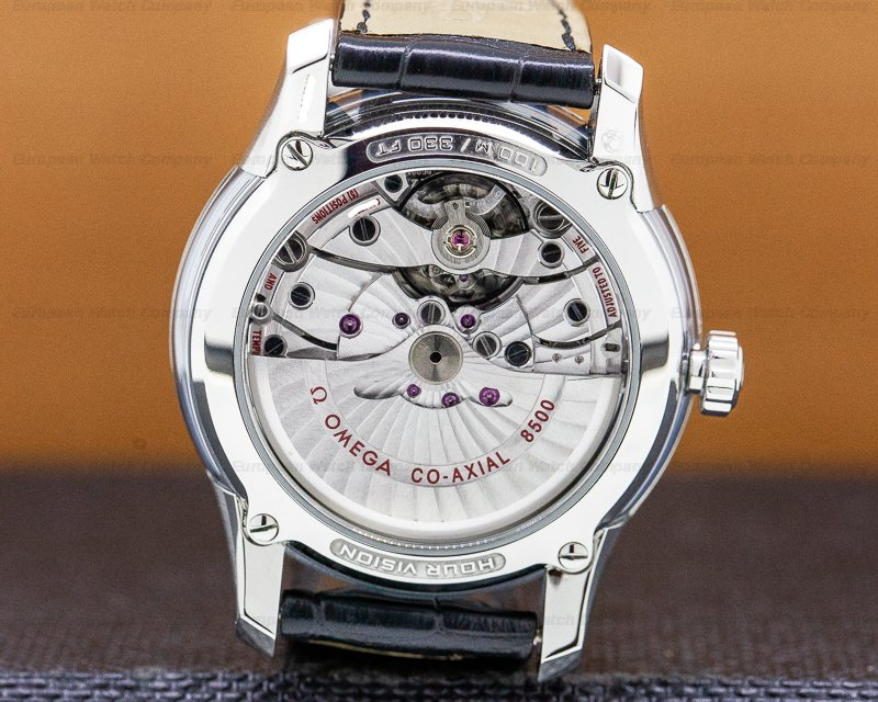 Omega 431.33.41.21.01.001 DeVille Hour Vision Co Axial Chronometer SS / Leather
