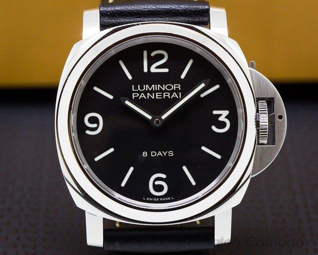 Panerai PAM560 Luminor Base 8 Days Black Painted Dial UNWORN