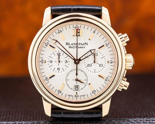Blancpain 3185 Leman Chronograph Half Hunter 18K Rose Gold