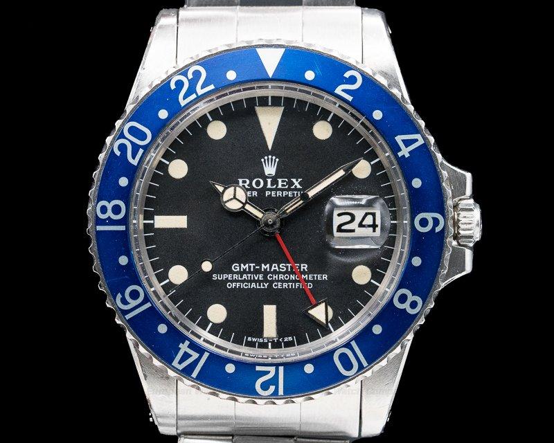 "Rolex 1675 GMT Master ""Blueberry"" MKII SS"