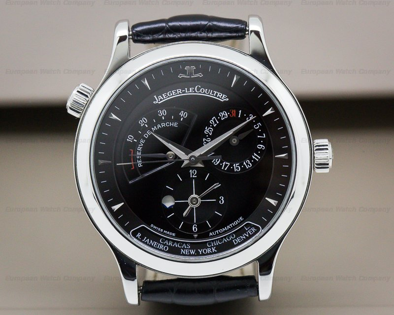 Jaeger LeCoultre 142.8.92 Master Geographic SS Black Dial/Deployment