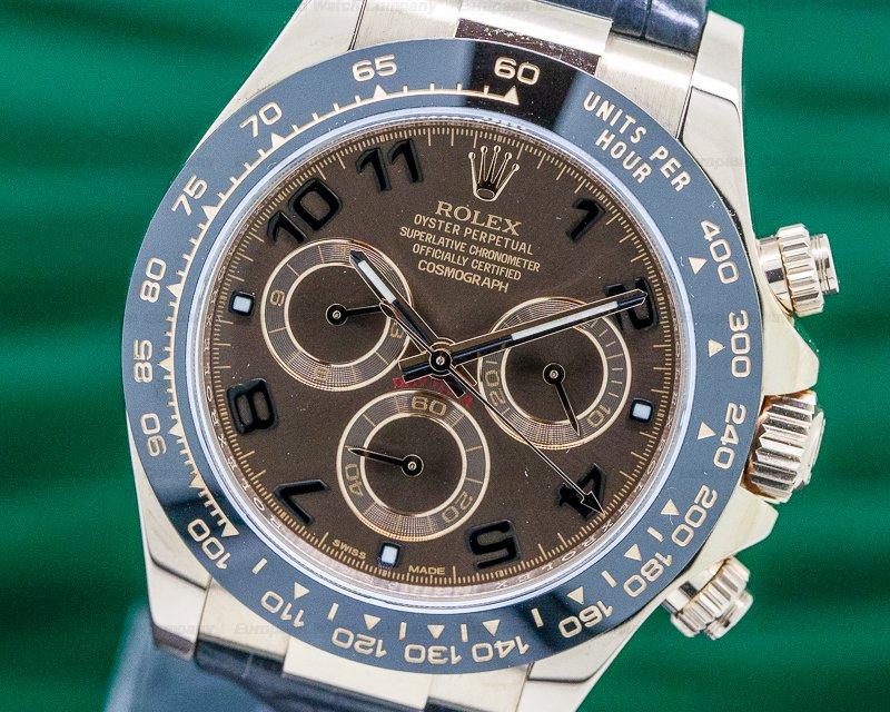Rolex 116515LN Cosmograph Daytona 18K Rose Gold / Chocolate Dial
