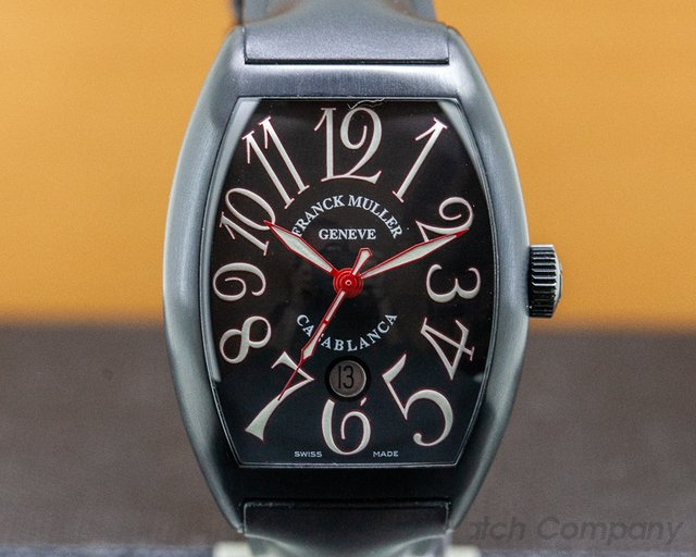 Franck Muller 8880 C DT NR Black and Red Casablanca PVD Automatic