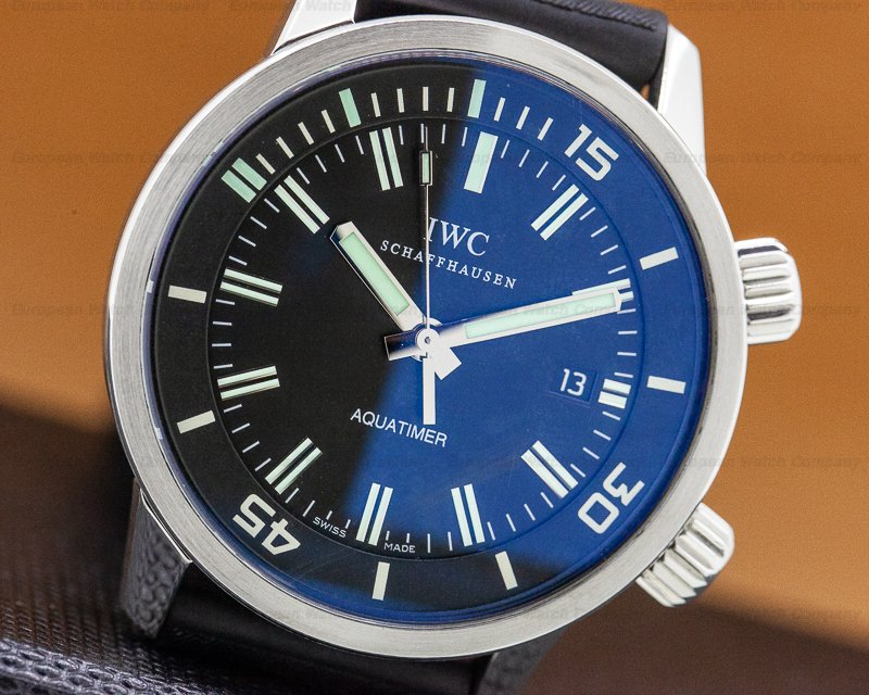 IWC IW323101 Aquatimer Automatic SS Black Dial / Rubber Strap