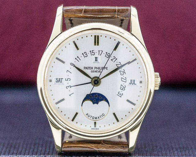 Patek Philippe 5050J Retrograde Perpetual Calendar 18K Yellow Gold FULL SET NICE