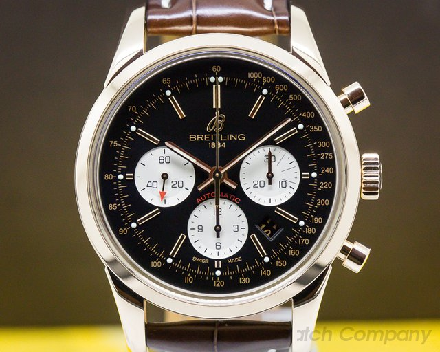 Breitling RB015212/BF15 Transocean Chronograph 18K Rose Gold
