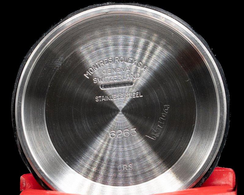 """Rolex 6265 Daytona Cosmograph """"Big Red"""" Black Panda Dial c. 1979 FULL SET"""