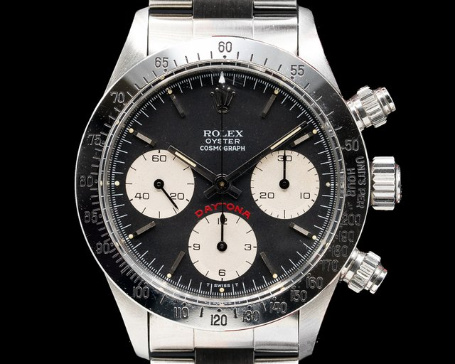 "Rolex 6265 Daytona Cosmograph ""Big Red"" Black Panda Dial c. 1979 FULL SET"