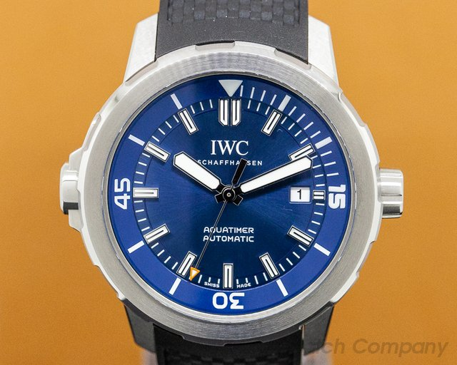 IWC IW329005 Aquatimer Automatic Expedition Jacques Cousteau Blue Dial SS / Rubber