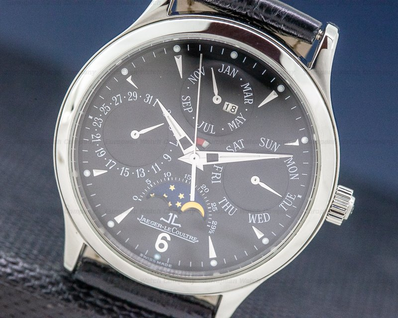 Jaeger LeCoultre Q140880S Master Perpetual SS Black Dial