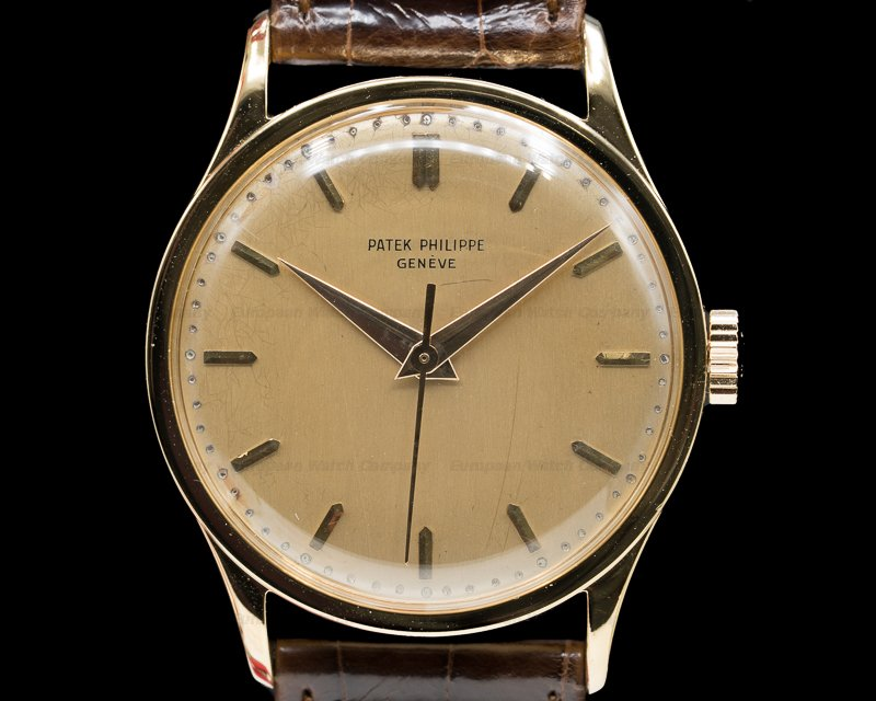 Patek Philippe 570 Calatrava Manual Wind Center Seconds 18K Yellow Gold