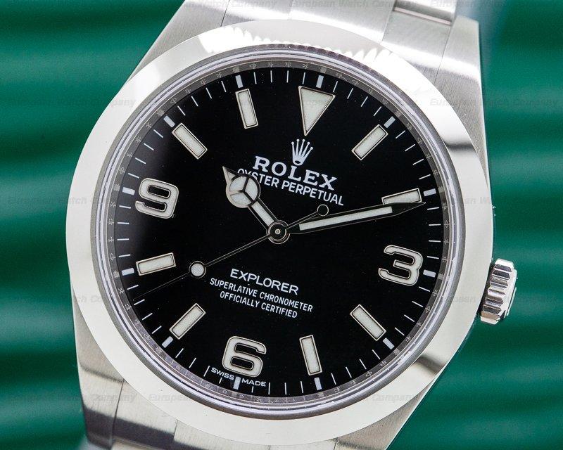Rolex 214270 Explorer I Black Dial 39MM