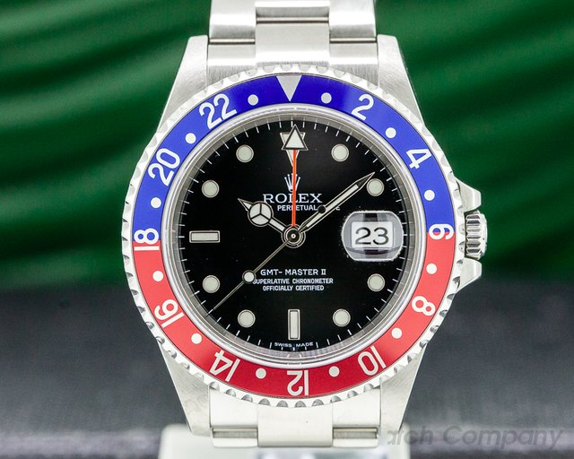 Rolex 16710 GMT Master II SS Red / Blue Pepsi Bezel FULL SET