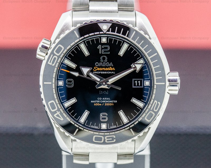 Omega 215.30.44.21.01.001 Seamaster Planet Ocean Co-Axial Black Dial SS / SS