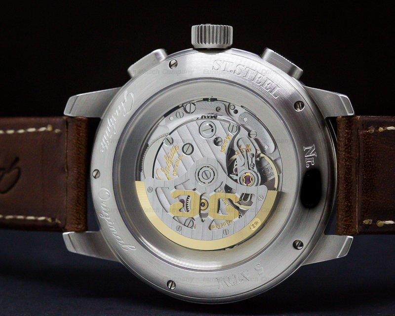 Glashutte Original 39-34-17-17-04 Senator Navigator Chronograph SS / Strap