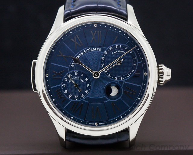 Maitres Du Temps C3R.00.00.1110-C1 Chapter 3 Reveal 18k White Gold Blue Dial