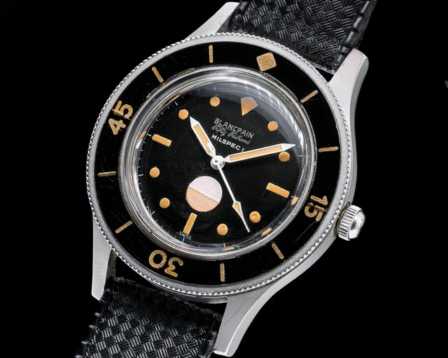 "Blancpain Milspec 1 Fifty Fathoms Milspec 1 Radium ""Double Swiss"" Circa 1963 GLOSS"