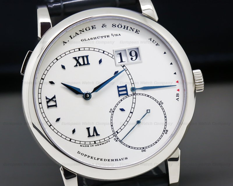 A. Lange and Sohne 115.046 Grand Lange 1 18K White Gold Silver Dial / Blue Hands LIMITED