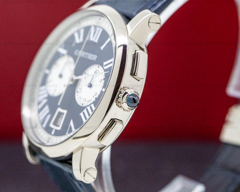 Cartier W1556239 Rotonde de Cartier Chronograph 18k WG Blue Dial LIMITED