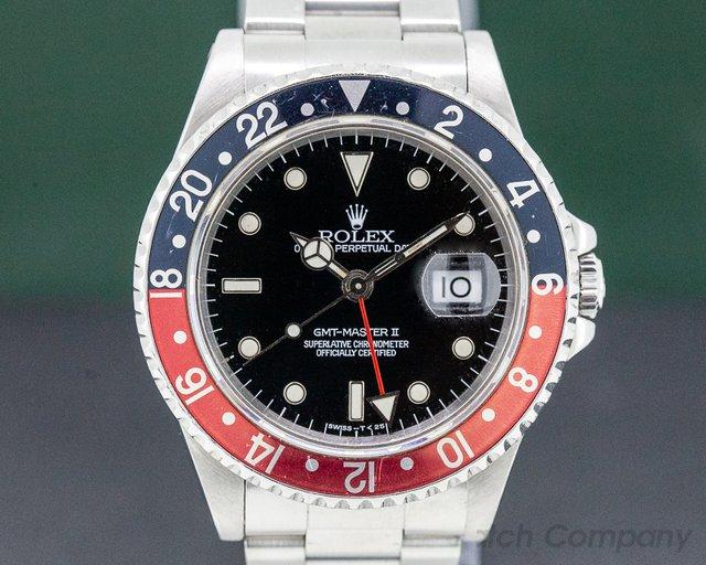 Rolex 16710T GMT Master II SS Red / Black Coke
