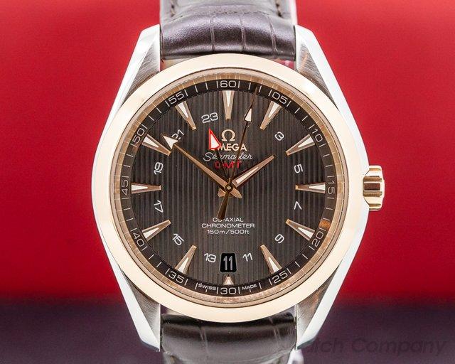 Omega 231.23.43.22.06.001 Aqua Terra GMT Grey Dail SS/18k RG