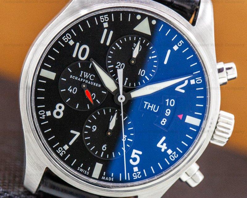 IWC IW377701 Pilot Chronograph SS Black Dial 43MM