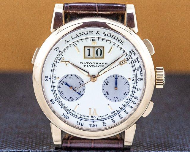 A. Lange and Sohne 403.032 Datograph Flyback 18K Rose Gold