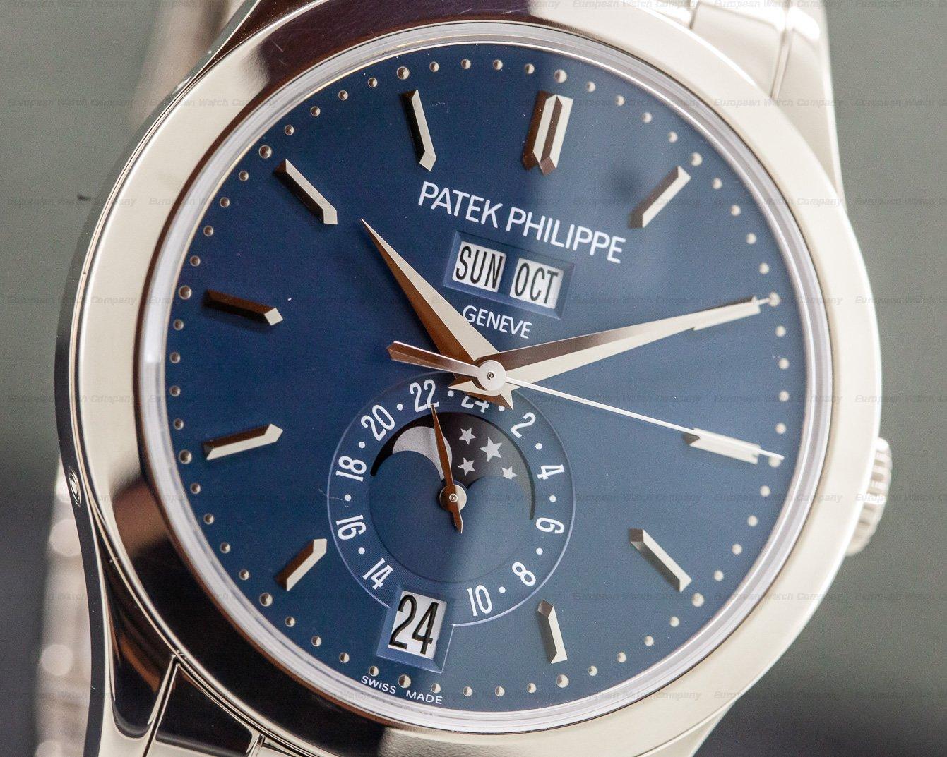Patek Philippe 5396/1G-010 Annual Calendar Blue Dial 18K White Gold / Bracelet