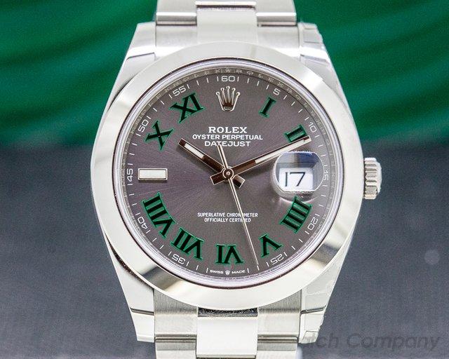 Rolex 126300 Datejust 41 Slate Roman Dial SS UNWORN
