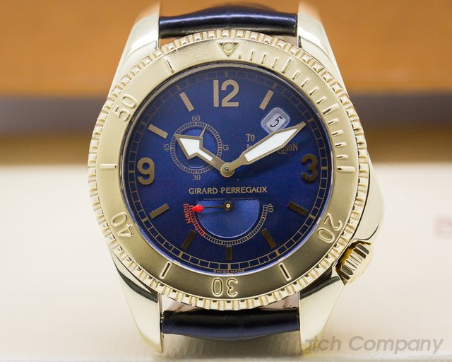 Girard Perregaux 4991 Sea Hawk II John Harrison Blue Dial / Yellow Gold