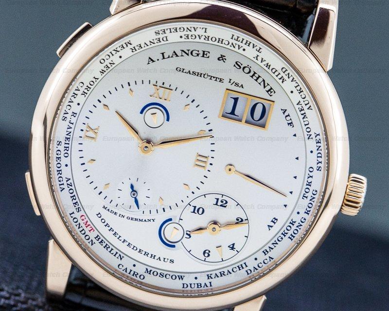 A. Lange and Sohne 116.032 Lange 1 Time Zone 18K Rose Gold / Deployment