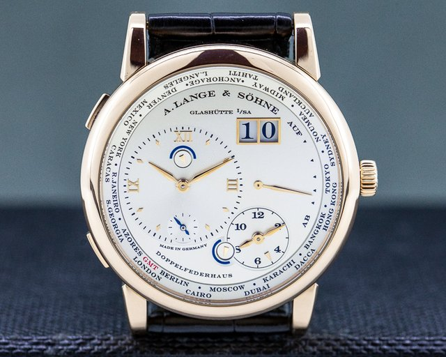 A. Lange and Sohne 116.032 Lange 1 Time Zone 18K Rose Gold / Deployment