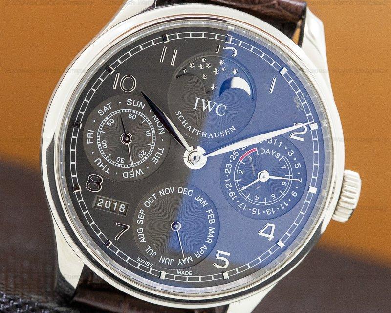 IWC IW502303 Portuguese Perpetual II Grey Dial 18K White Gold