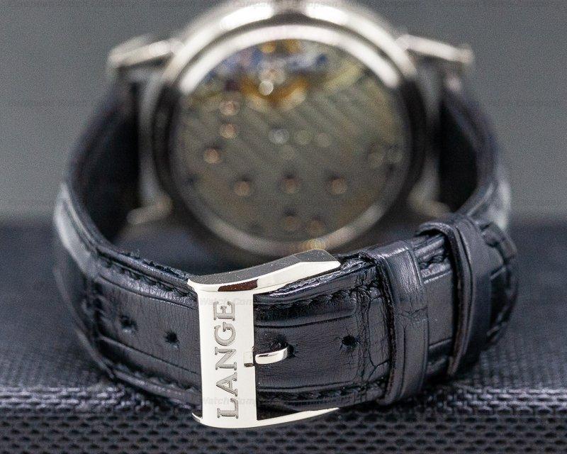 A. Lange and Sohne 192.029 Lange 1 Moon 18K White Gold Black Dial / Day Night