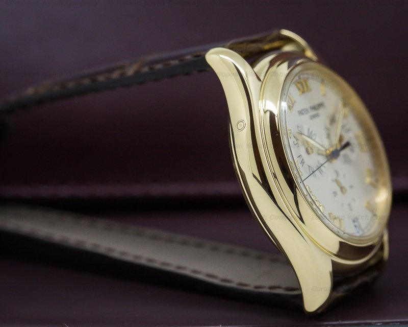 Patek Philippe 5035J-001 Annual Calendar Ivory Dial Yellow Gold
