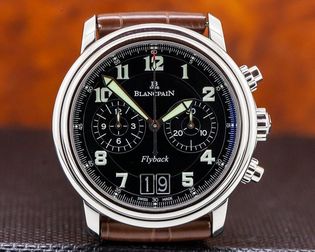 Blancpain 2885F-1130-53B Flyback Chronograph Big Date SS Black Dial 40MM