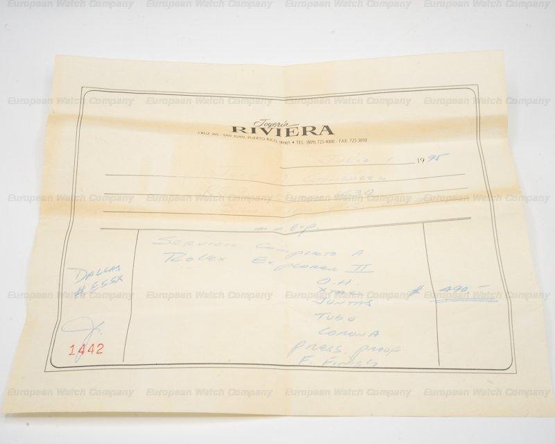 "Rolex 1655 Explorer II Steve McQueen ""Albino"" Circa 1974"
