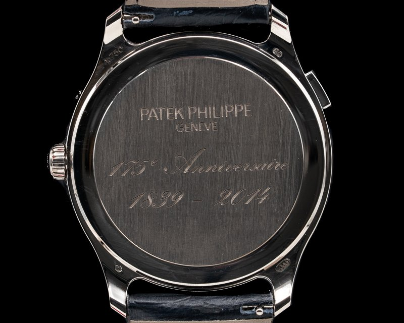 Patek Philippe 5575G-001 175th Anniversary World Time Moonphase 18K White Gold / Black Dial