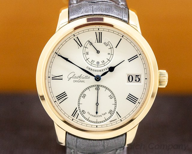 Glashutte Original 58-01-01-01-04 Senator Chronometer 18K Rose Gold
