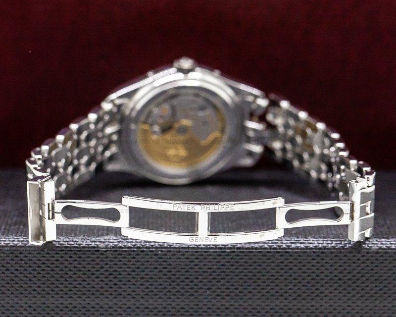 Patek Philippe 5146/1G-001 Annual Calendar Moon 18k White Gold Porcelain Dial Bracelet