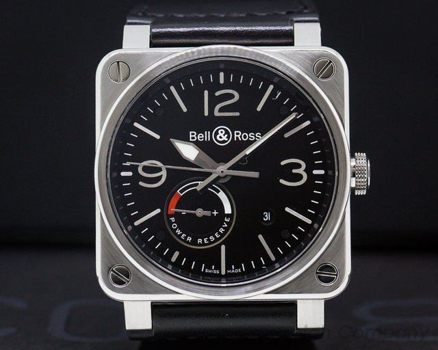 Bell & Ross BR 03-97-S Aviation BR 03 Power Reserve SS / Leather