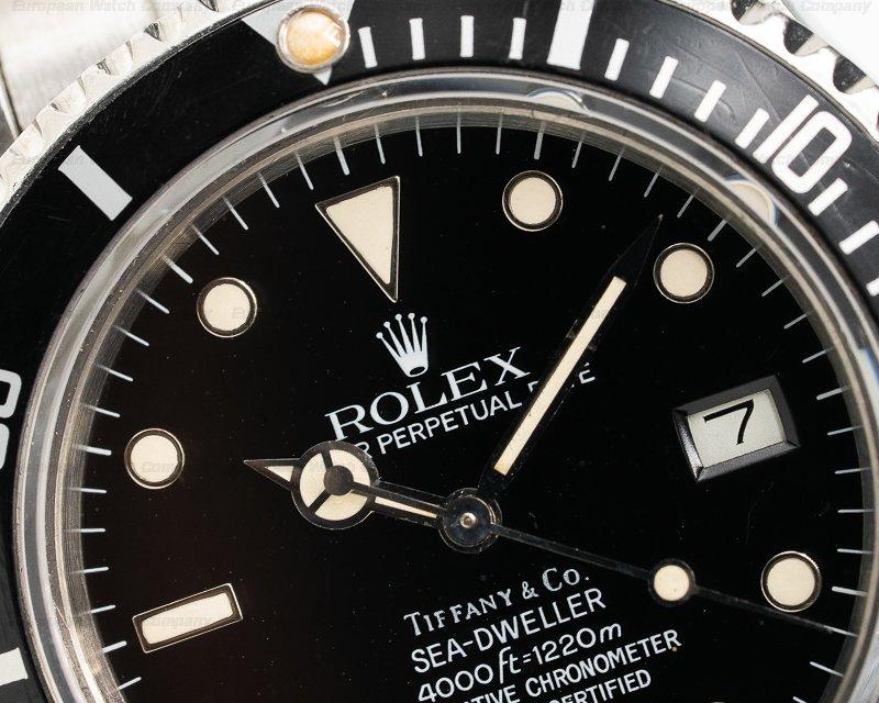 Rolex 16660 Sea Dweller Transitional SS TIFFANY & CO