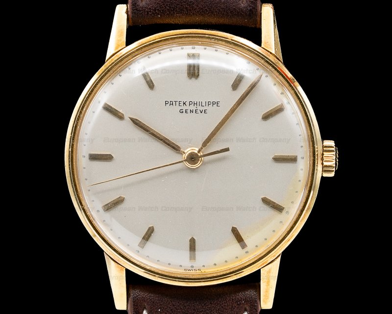 Patek Philippe 3411 Calatrava 18K Manual Wind Silver Dial 34.5MM