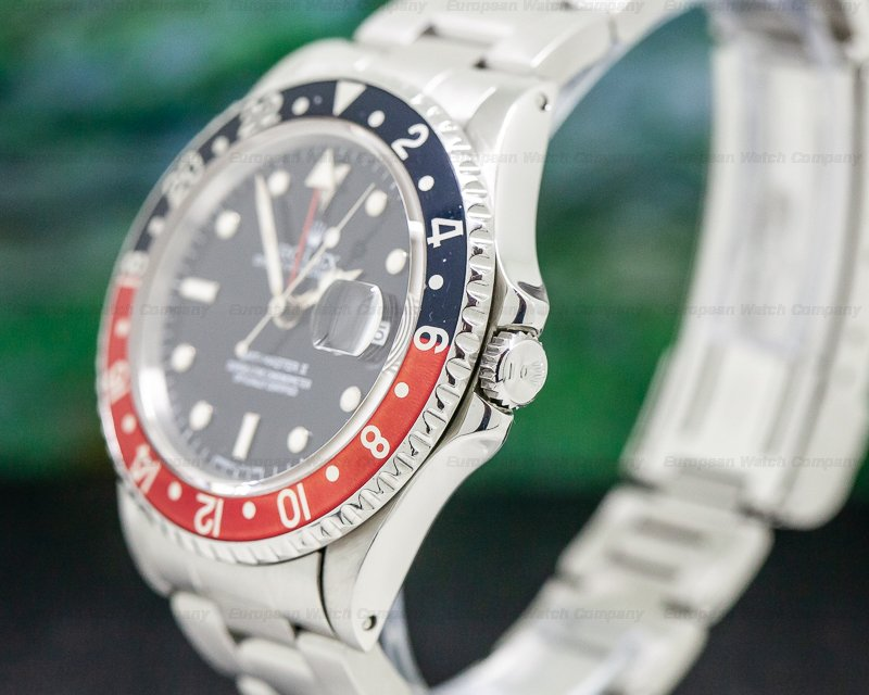 Rolex 16710T GMT Master II SS Red / Black Coke