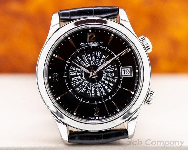 Jaeger LeCoultre Q1418471 Master Memovox International SS Black Dial Limited